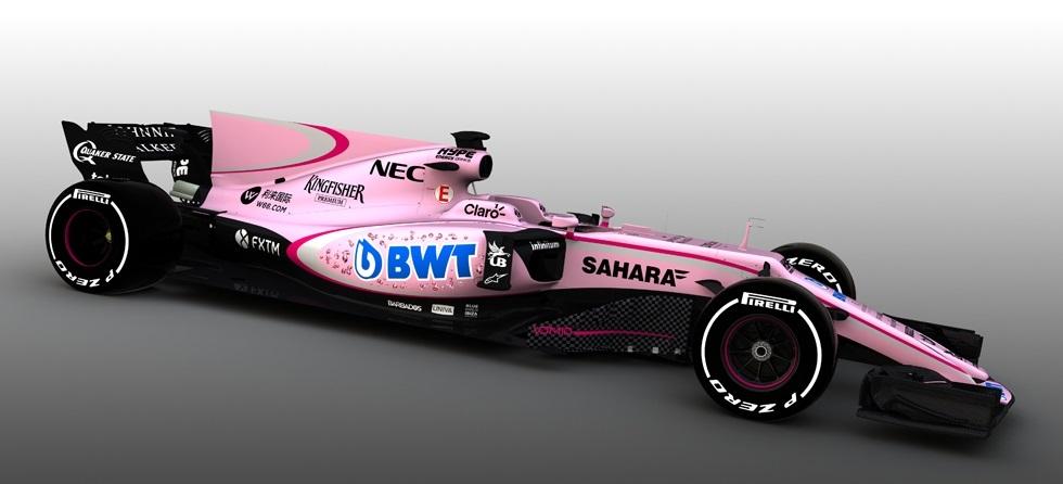 Novo patrocinador altera cor do carro da Force India para a próxima temporada da F1