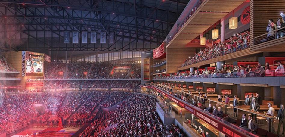 Com bar atrás da cesta, Atlanta Hawks divulga projeto de reforma da Philips Arena