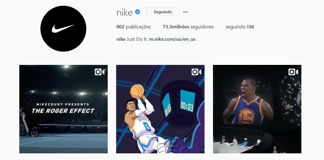 Após Amazon, Nike venderá seus produtos através do Instagram