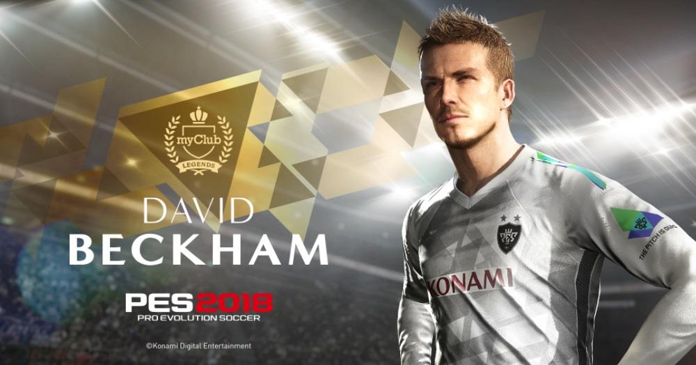 David Beckham assina acordo de exclusividade com a Konami para o PES 2018
