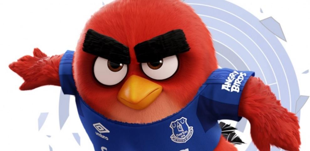 Everton terá Angry Birds na manga esquerda da camisa