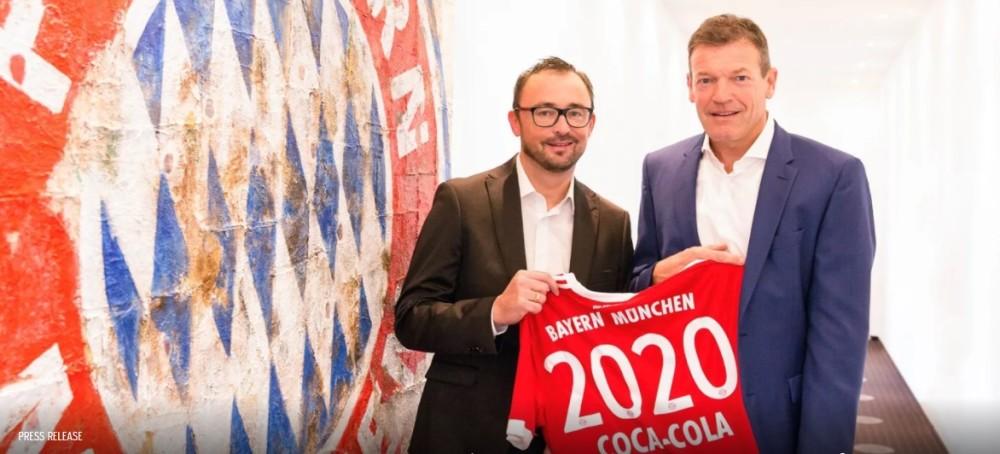 Bayern de Munique renova com Coca-Cola e parceria completará 50 anos