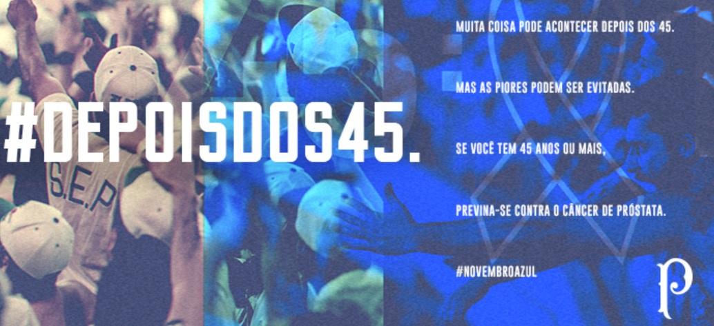 Palmeiras promove campanha em prol da prevenção do câncer de próstata