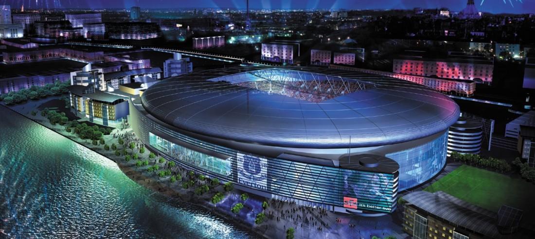 Custo do novo estádio do Everton aumentará consideravelmente