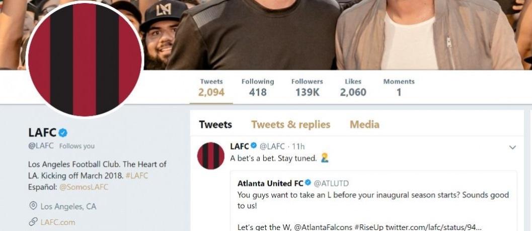 Atlanta United e LAFC aproveitam duelo na NFL e fazem aposta no Twitter