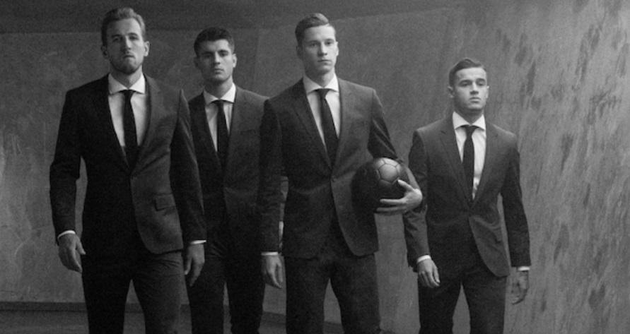 Philippe Coutinho, Harry Kane, Draxler e Morata fecham com a Hugo Boss