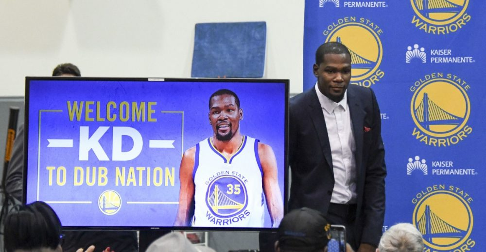 "Como o YouTube ""salvou"" a imagem de Durant ao chegar no Golden State Warriors"