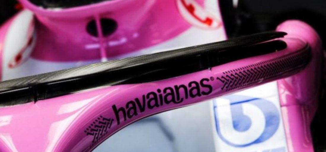 Force India fecha patrocínio com a Havaianas para halo e entra na F1