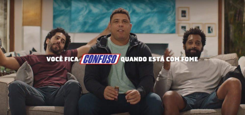 Ronaldo comemorando gol da Argentina é fruto de ação promocional do Snickers