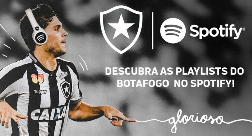 Com pacote de ativações, Botafogo anuncia parceria com Spotify