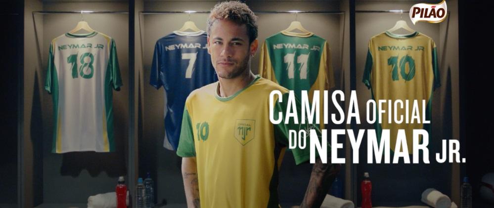 Café Pilão ativa patrocínio a Neymar com coleção de camisas