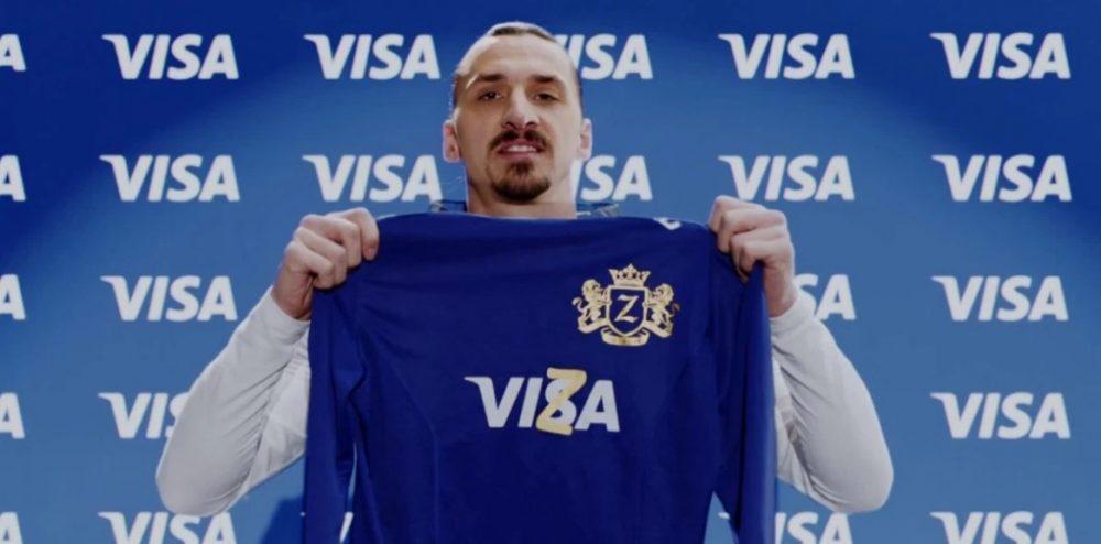 Visa anuncia Zlatan Ibrahimovic como embaixador e nova campanha para o Brasil