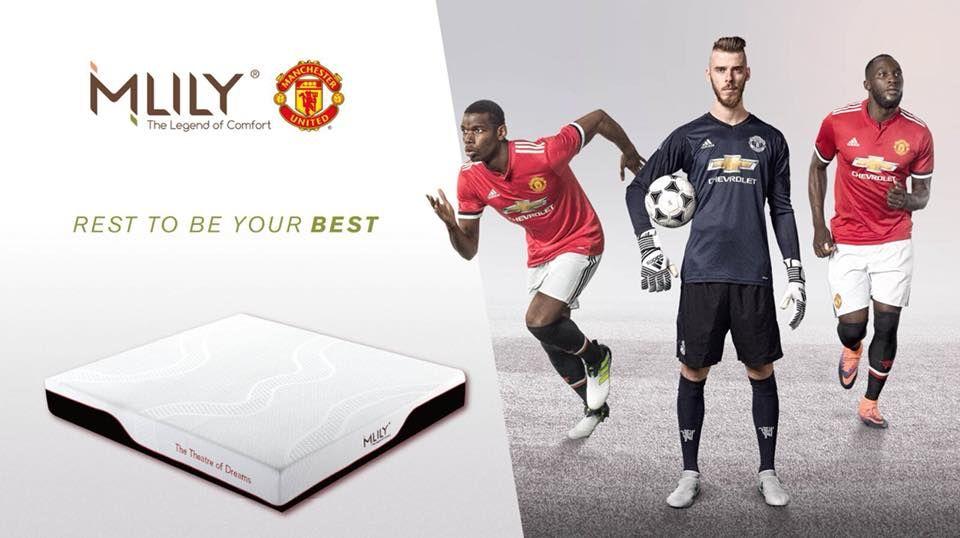 Manchester United renova com Mlily, sua parceira oficial de colchões e travesseiros