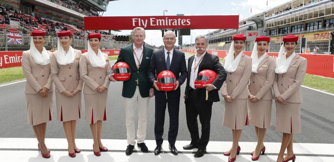 Emirates ratifica presença na F1 com renovação do patrocínio até 2022
