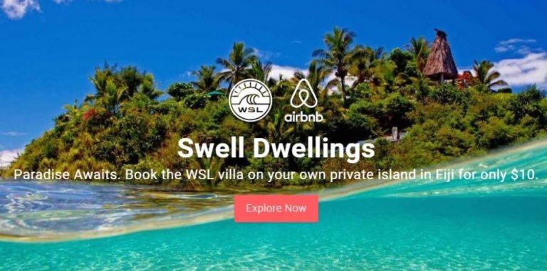 Por experiências exclusivas, World Surf League e Airbnb retomam parceria