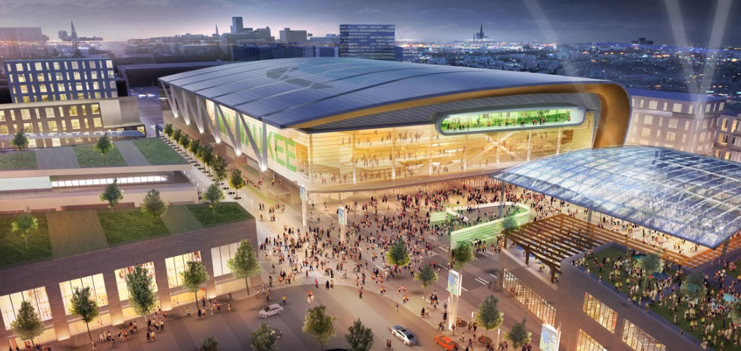 Milwaukee Bucks está próximo de vender o naming rights do seu novo ginásio