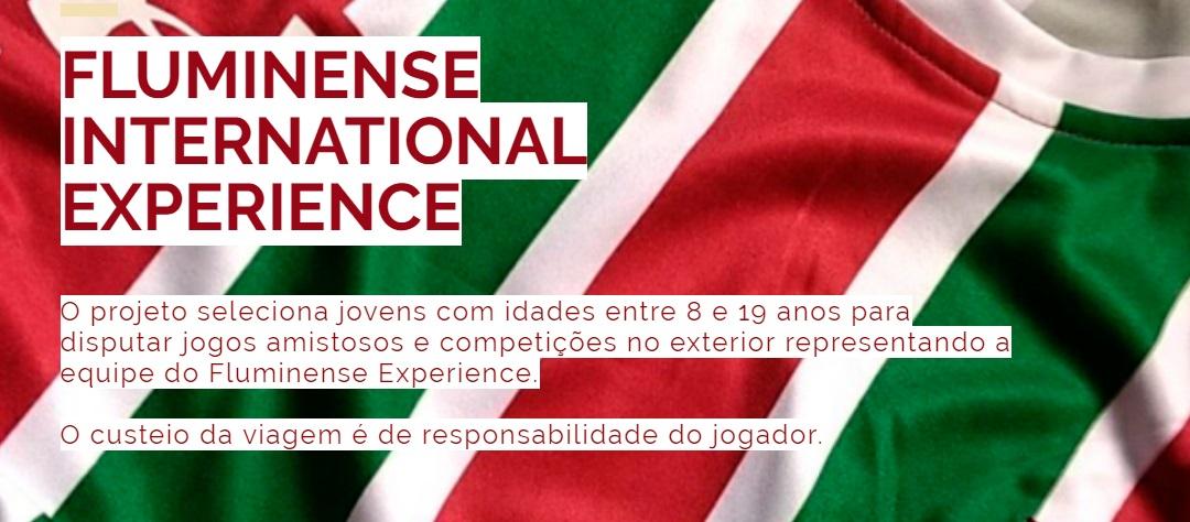 Fluminense lança projeto que levará crianças para excursão internacional