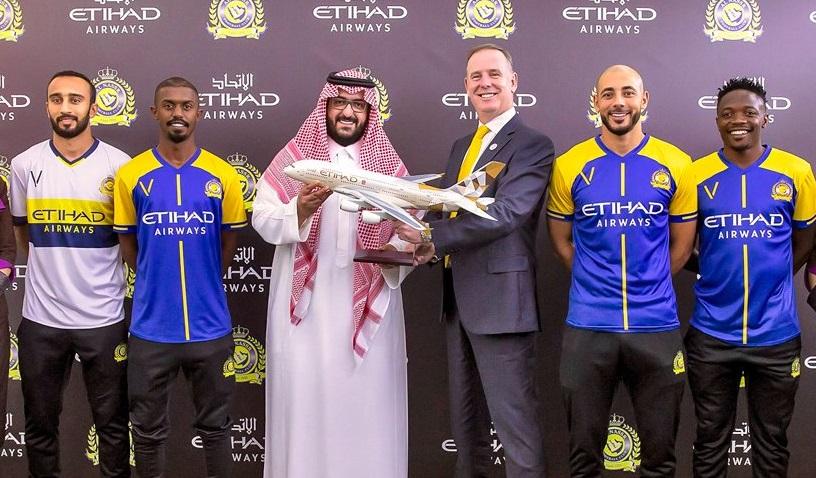 Etihad Airways é a nova patrocinadora máster do Al Nassr FC