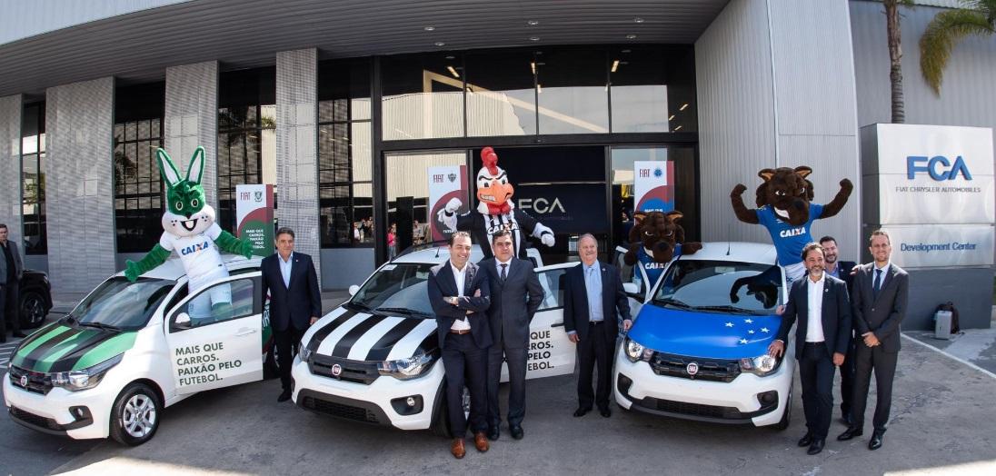 Fiat volta a apostar no futebol de MG e fecha com Atlético, América e Cruzeiro