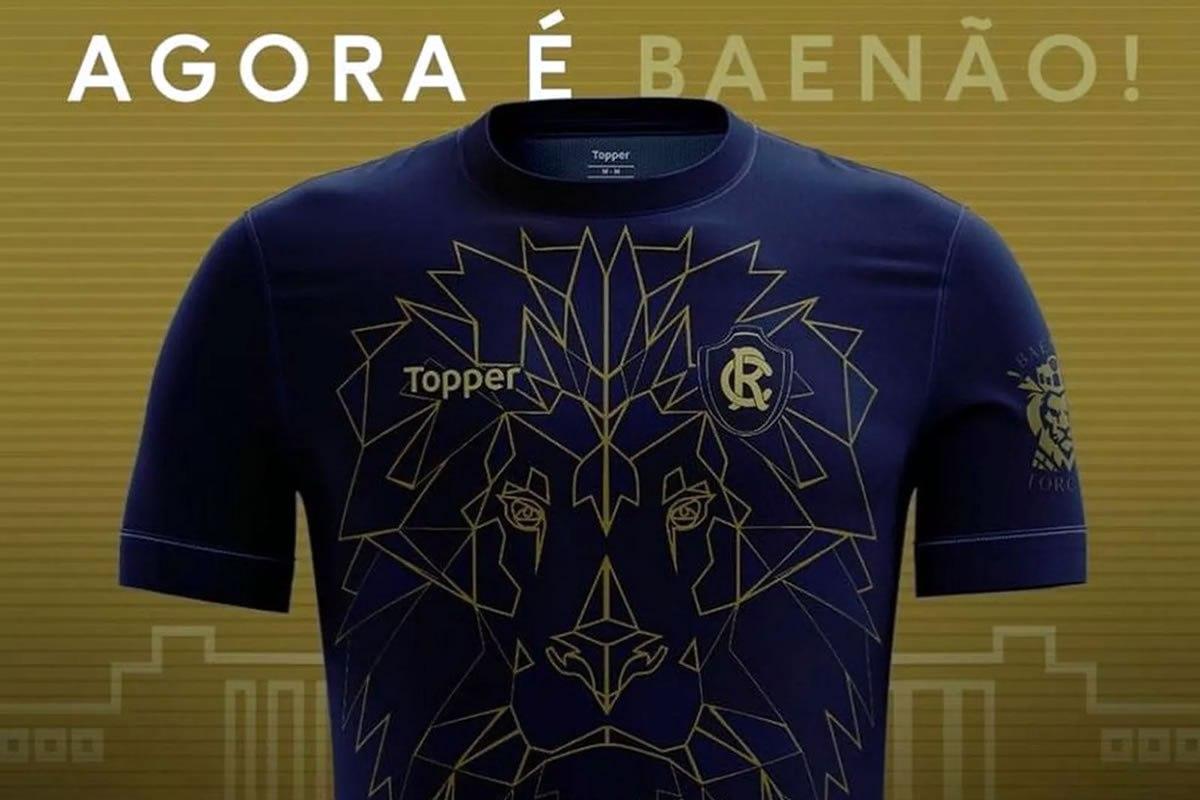 Topper apresenta camisa do Remo em homenagem ao Leão de Pedra