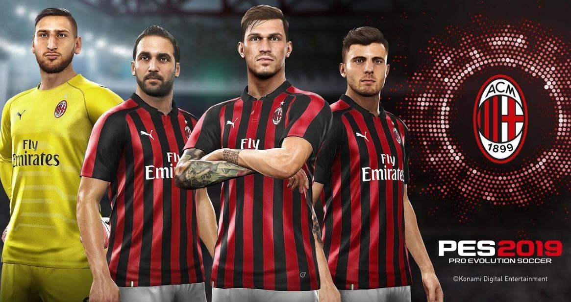 Konami garante renovação com o AC Milan para o PES 2019