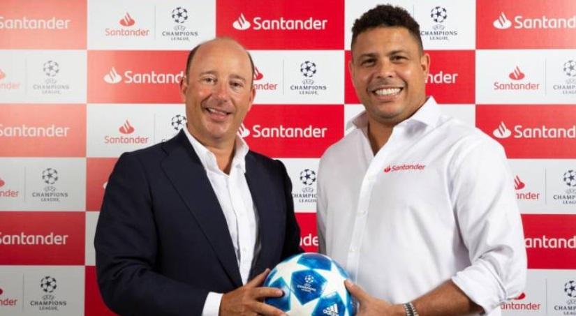 Ronaldo é o novo embaixador do Santander para a Champions League