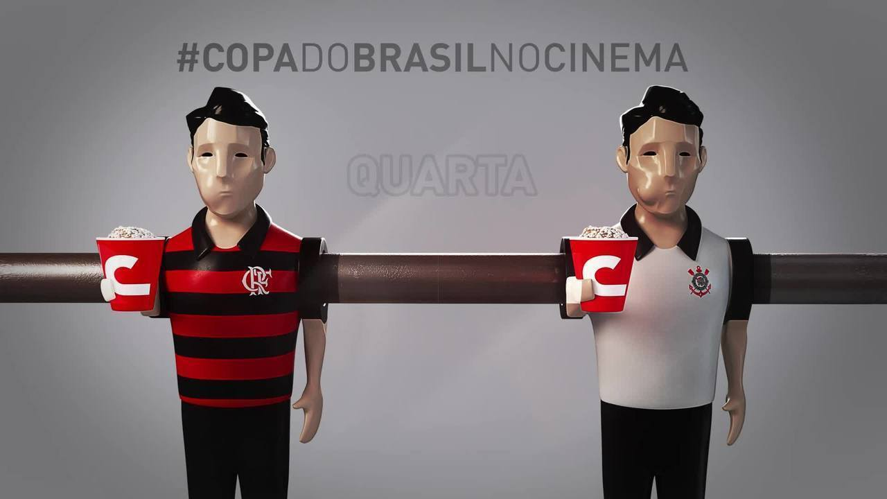 Cinemark leva Flamengo x Corinthians, pela Copa do Brasil, para o cinema