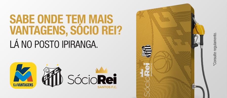 Km de Vantagens, do posto Ipiranga, é a nova parceira do sócio-torcedor do Santos