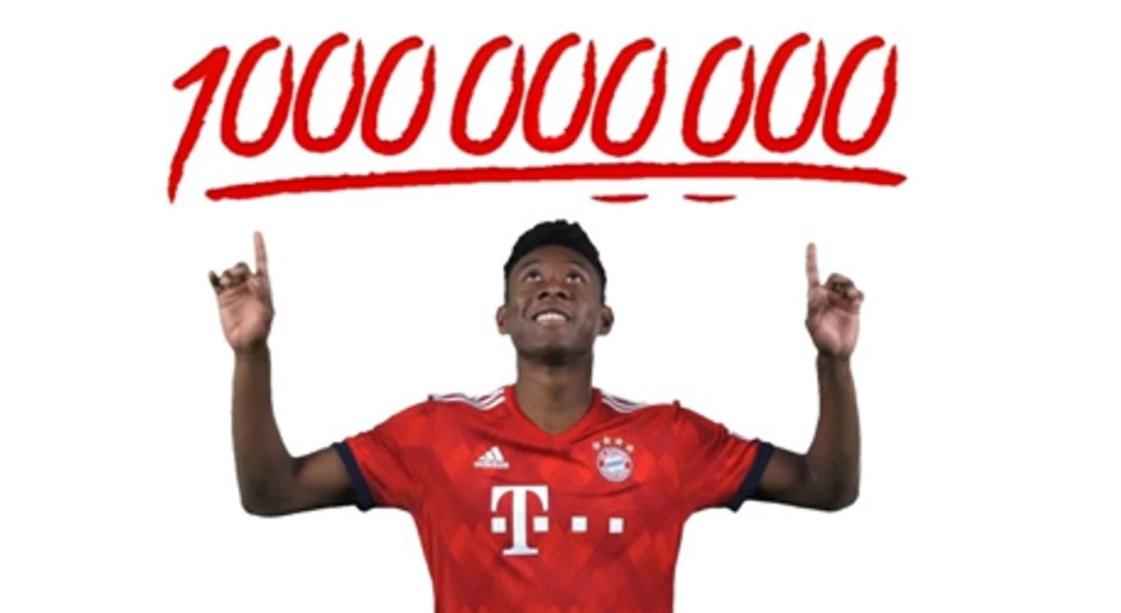Bayern bate a marca de 1 bilhão de visualizações em plataforma de GIFs