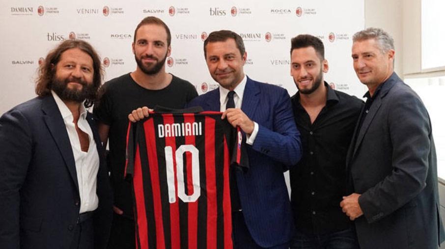 Damiani torna-se parceira de luxo do AC Milan