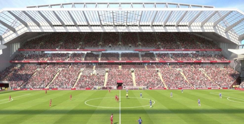 Liverpool estuda ampliação de Anfield e receber outras modalidades
