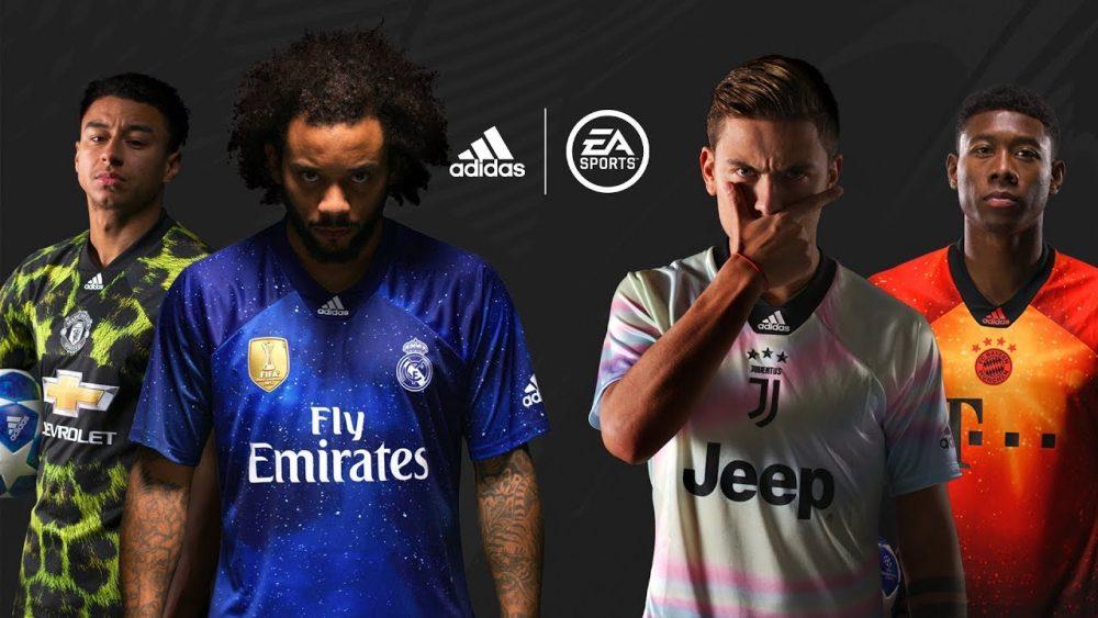 Adidas e EA Sports criam camisas alternativas para grandes europeus