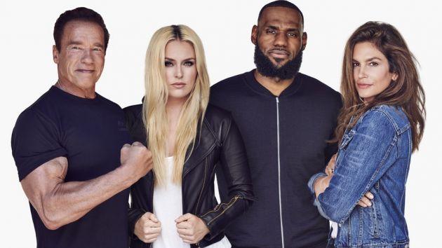 LeBron James lança marca em parceria com Lindsey Vonn,Schwarzenegger e Cindy Crawford