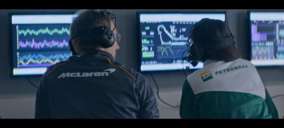 Petrobras e McLaren ativam parceria com histórias de profissionais da F1