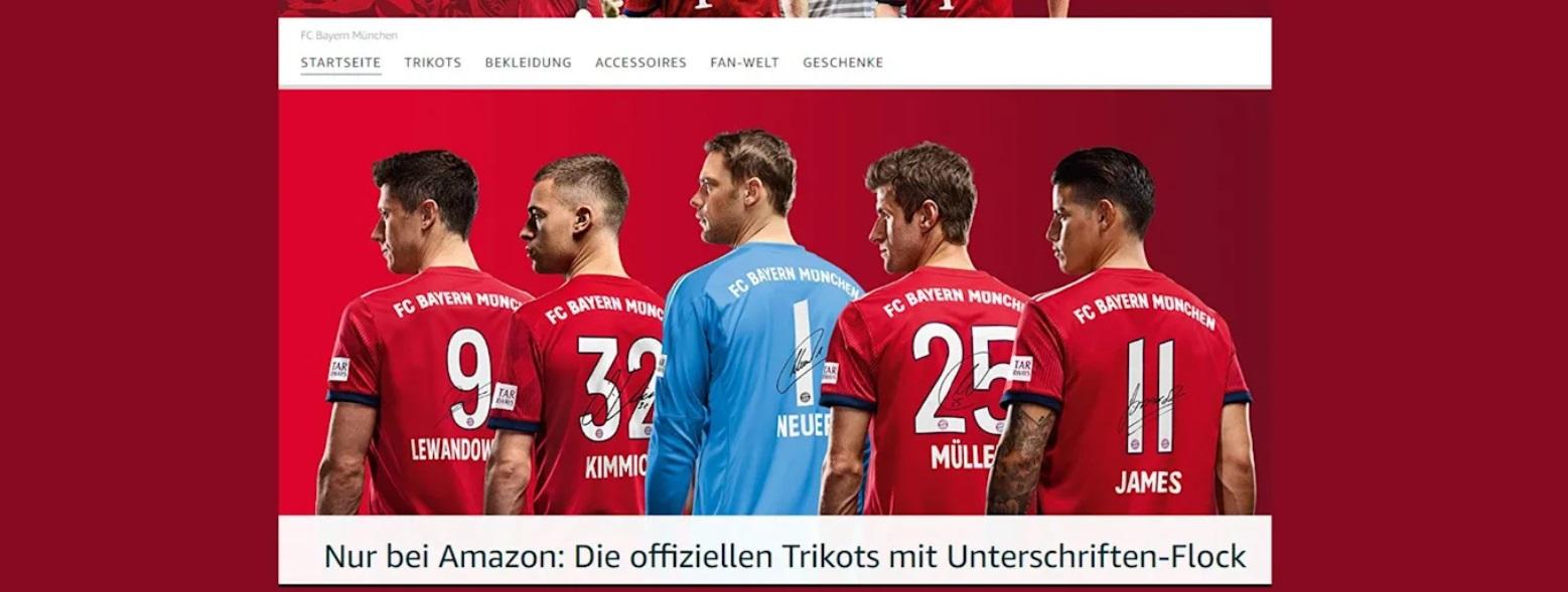 Bayern de Munique segue tendência e lança loja on-line na Amazon