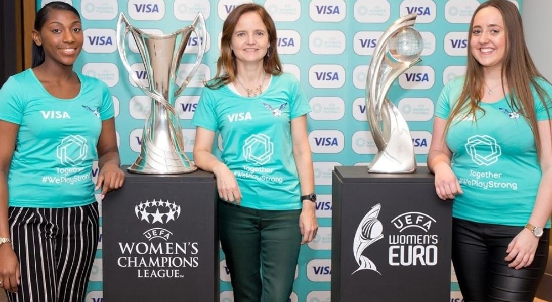 Visa faz história e é a primeira a patrocinar o futebol feminino da Uefa
