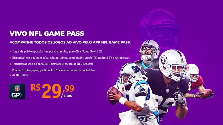 Vivo utiliza Super Bowl para promover venda de serviço