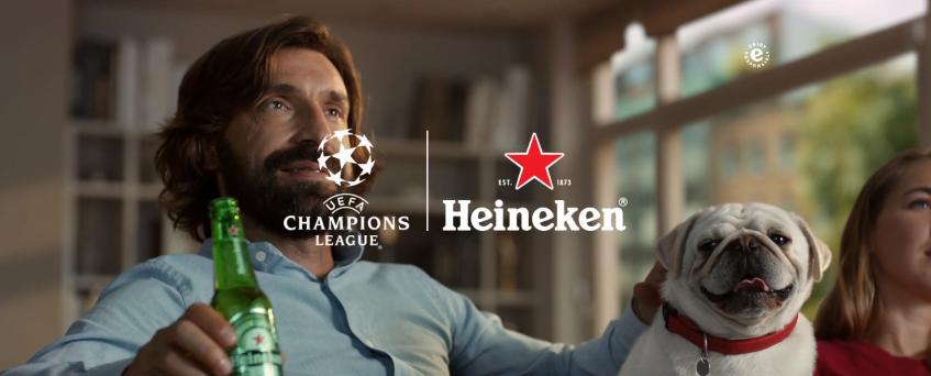 Heineken ativa Champions League no Brasil com Andrea Pirlo e promoção