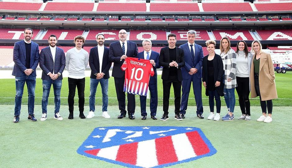 Telefónica fecha acordo com Atlético de Madrid até 2024
