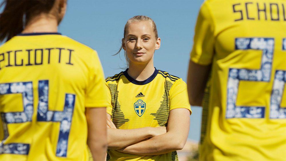 Suécia homenageia mulheres inspiradoras do país em camisa da Copa do Mundo
