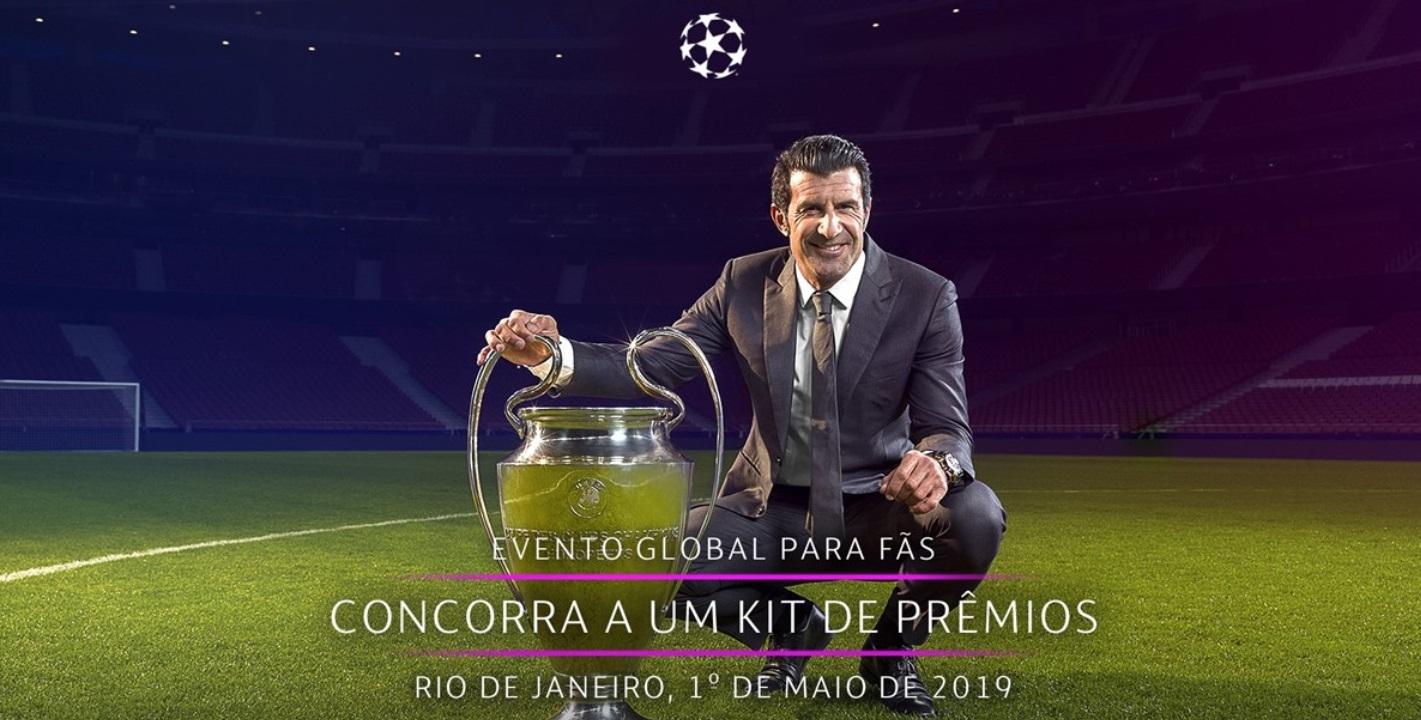Com Luis Figo e taça, Uefa fará evento da Champions League no Rio de Janeiro