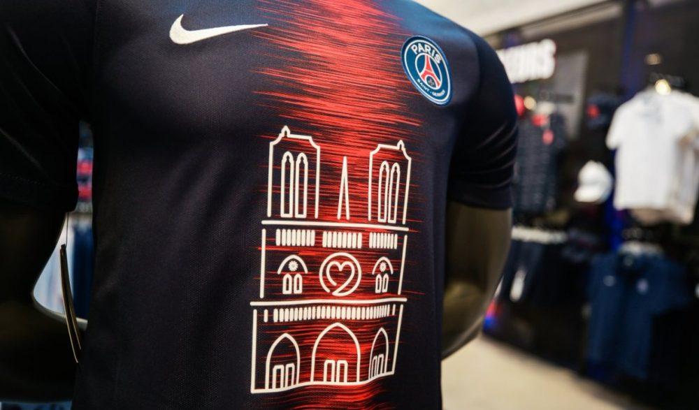 Camisa do PSG que homenageia Notre-Dame esgota em 30 minutos