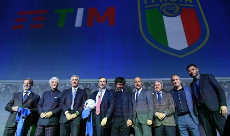 Seleção italiana renova parceria com TIM