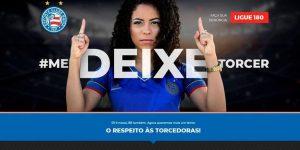 Bahia lança site para auxiliar mulheres contra assédio nos estádios