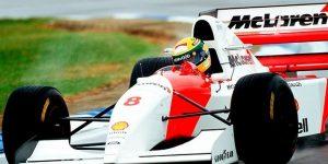Pneu usado por Ayrton Senna em 1993 vira joia com ouro 18k