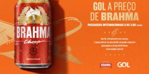 Com a Brahma, Gol vende passagem internacional a preço de cerveja