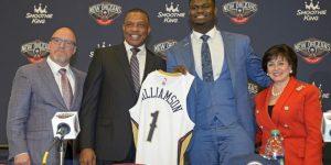 Sem estrear, Zion Williamson bate recorde de vendas na NBA