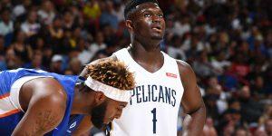 Com ZionWilliamson, Pelicans já vendeu 10 mil ingressos para temporada