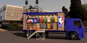 NBA apresenta a 'NBA Store Truck', sua primeira loja sobre rodas no mundo