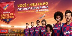 Nescau ativa futebol em ação promocional com o FC Barcelona